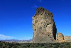 Piedra Parada monolit i den Chubut dalen, Argentina Arkivbild