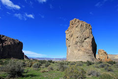 Piedra Parada monolith in the Chubut valley, Argentina Stock Photography