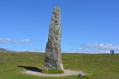 Piedra permanente de Merrivale, en el neolítico al sitio prehistórico del acuerdo de la edad de bronce, Dartmoor, Reino Unido fotos de archivo