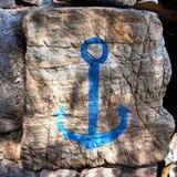Piedra pintada Imagen de archivo