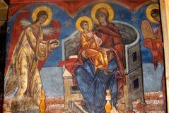 Piedra pintada en el monasterio del humor, Moldavia, Rumania Imagenes de archivo