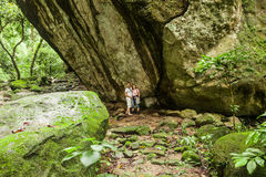Piedra Pintada för hällristning-/Petroglyph`-La ` i El Valle de Anton Royaltyfri Foto