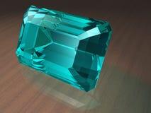 Piedra preciosa del Aquamarine Imágenes de archivo libres de regalías