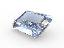 Piedra preciosa del diamante del corte de la esmeralda Fotografía de archivo