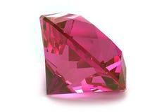 Piedra preciosa del rubí o de Rhodolite foto de archivo