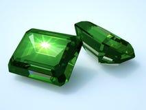 Piedra preciosa esmeralda dos Fotos de archivo libres de regalías