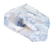 Piedra preciosa natural del celestine aislada Fotos de archivo