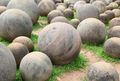 Piedra redonda del granito para el fondo Imagenes de archivo