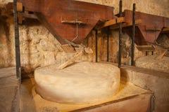Piedra redonda del molino Fotografía de archivo