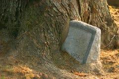 Piedra sepulcral Imágenes de archivo libres de regalías