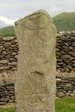 Piedra sepulcral céltica antigua Fotografía de archivo