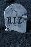 Piedra sepulcral de Halloween Imagenes de archivo