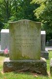 Piedra sepulcral de la familia de Randolph Imagenes de archivo