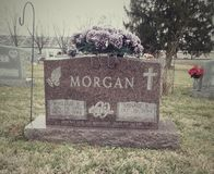 Piedra sepulcral de Morgan imagen de archivo libre de regalías