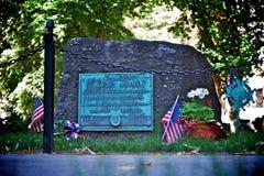 Piedra sepulcral de Samuel Adams Foto de archivo