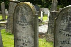 Piedra sepulcral de Víspera de Todos los Santos del RASGÓN Foto de archivo libre de regalías