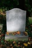 Piedra sepulcral en blanco Imágenes de archivo libres de regalías