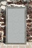 Piedra sepulcral en blanco Foto de archivo libre de regalías
