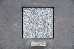Piedra sepulcral en blanco Fotografía de archivo libre de regalías