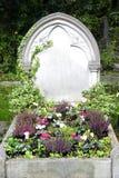 Piedra sepulcral en blanco Imagen de archivo libre de regalías