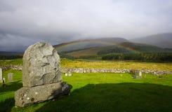 Piedra sepulcral escocesa vieja Fotografía de archivo libre de regalías