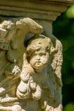 Piedra sepulcral histórica del detalle Imagen de archivo libre de regalías