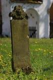 Piedra sepulcral vieja Imagen de archivo libre de regalías