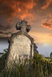 Piedra sepulcral frotada Fotos de archivo libres de regalías
