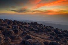 Piedra vieja con crepúsculo Fotografía de archivo
