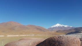 Piedras罗哈斯-红色石头-武尔卡诺岛-阿塔卡马沙漠-智利 库存照片