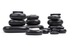 Piedras aisladas del masaje fijadas Fotografía de archivo libre de regalías