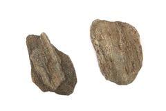 Piedras aisladas en el fondo blanco Foto de archivo libre de regalías