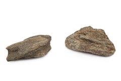 Piedras aisladas en el fondo blanco Fotografía de archivo