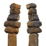 Piedras apiladas en un polo Fotografía de archivo