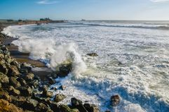 Piedras Blancas Breakers Late Afternoon stock images