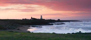 Piedras Blancas Light Station San Simeon California Lighthouse Stock Image