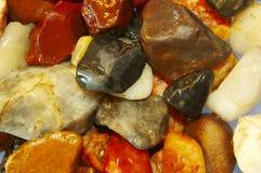 Piedras clasificadas del río Fotografía de archivo