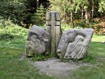 Piedras con las pinturas del bajorrelieve Imágenes de archivo libres de regalías