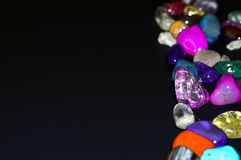 Piedras, cristales coloreados fotografía de archivo