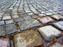 Piedras cuadradas del adoquín, Dresden Imagenes de archivo