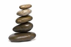 Piedras curativas en balance del zen. Foto de archivo libre de regalías