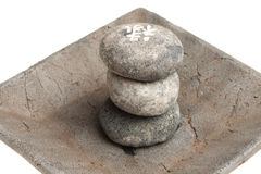 Piedras curativas japonesas Imágenes de archivo libres de regalías