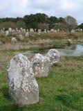 Piedras de Carnac fotos de archivo libres de regalías