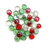 Piedras de cristal rojas Fotos de archivo
