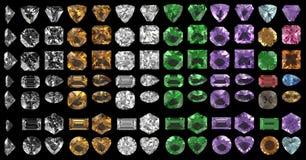 Piedras de gema imagenes de archivo