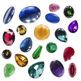 Piedras de gema aisladas Imágenes de archivo libres de regalías
