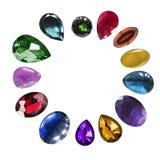 Piedras de gema aisladas Fotos de archivo libres de regalías