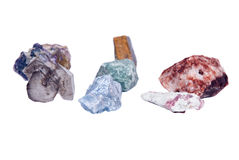 Piedras de gema crudas Foto de archivo libre de regalías