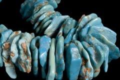 Piedras de gema de la turquesa fotografía de archivo