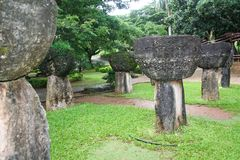 Piedras de Guam Latte Imagen de archivo libre de regalías